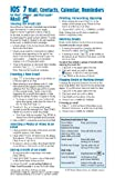 IOS 7 Mail, Contacts, Calendar, Reminders Quick Reference Guide, Beezix Inc., 193979109X