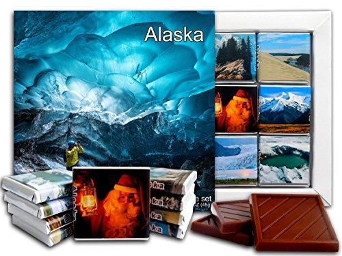 - DA CHOCOLATE Candy Souvenir ALASKA State Chocolate Gift Set 5x5in 1 box (Glacier Prime)