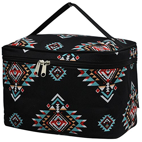 NGIL Large Top Handle Cosmetic Case (Southern Tribal-Black) ()