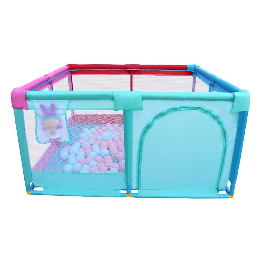 ベビーフェンス ポータブルアンチロールオーバーベビープレイペン、大幼児安全通気性遊び場、家庭用衝突防止保護屋内 (サイズ さいず : 128x128x66cm) 128x128x66cm  B07LC5GB39