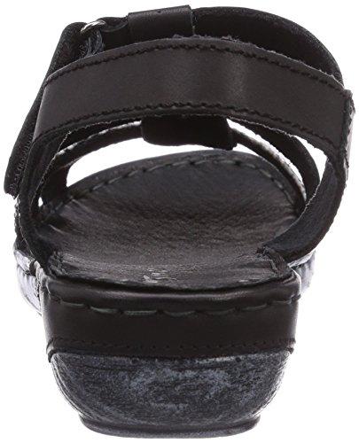 Tamaris 28143 - sandalias abiertas de cuero mujer multicolor - Mehrfarbig (Black Snake 014)