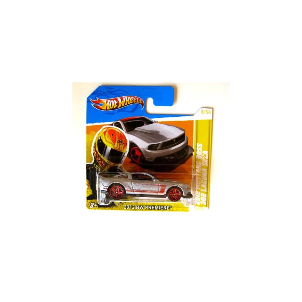 Hot Wheels Ford Mustang Boss 302 Laguna Seca 2012 Silber 164