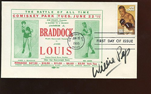 June 22 1993 1st Day Issue Envelope/Cachet Autographed Willie Pep Hologram - Boxing Cut Signatures ()