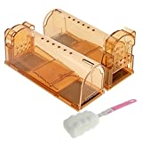 ASprint Humane Mouse Trap, Live Trap Catch and Release to Get Rid of Mice, No Kill No Mess, Safe for Kids and Pets, Best Mouse Control -2 Pack