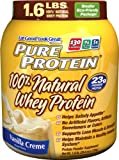Pure Protein 100 %  Natural Whey Protein, Vanilla Creme, 1.6 Pounds, Health Care Stuffs
