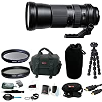 Tamron SP 150-600mm f/5-6.3 Di VC USD Lens for Nikon with 95mm Filters and Deluxe DSLR Accessory Bundle with Bag