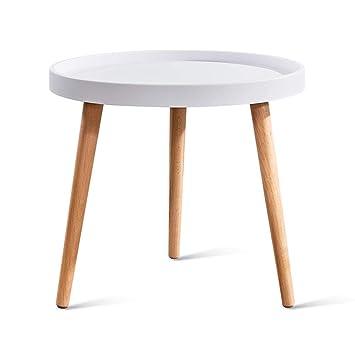 Amazon.com: Pequeña mesa redonda salón pequeña mesa de café ...