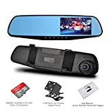 Dash Cam, OUMAX Dual Lens Car Camera, Car Video Recorder for Vehicles Front and Rear DVR, 4.3 Inch Screen, HD1080P,with 16G Micro SD Included - Black
