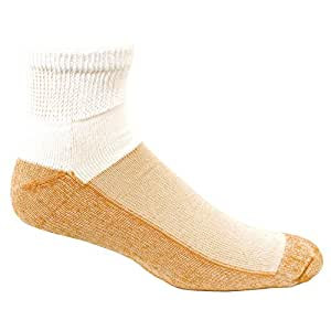 Copper Sole Premium Ankle Socks Womens Size 4 - 10 (3 Pairs)