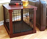 Indoor Wooden Mobile Dog Pet Cage With Crate Cover Side Panels Table Medium