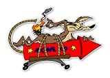 Wile E Coyote ACME Rocket Decal / Sticker Die cut (3'w X 2'h (Right))