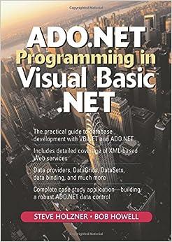 ADO.NET Programming in Visual Basic .NET (2nd Edition)