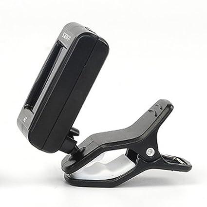 Trendyest A2 - Afinador de clip cromado para guitarra eléctrica acústica de bajo violín (3