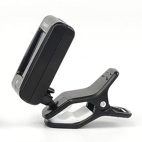 Trendyest A2 - Afinador de clip cromado para guitarra eléctrica ...