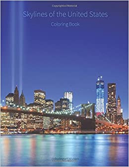 Skylines Of The United States Coloring Book Volume 1 Nick Snels 9781505766165 Amazon Books