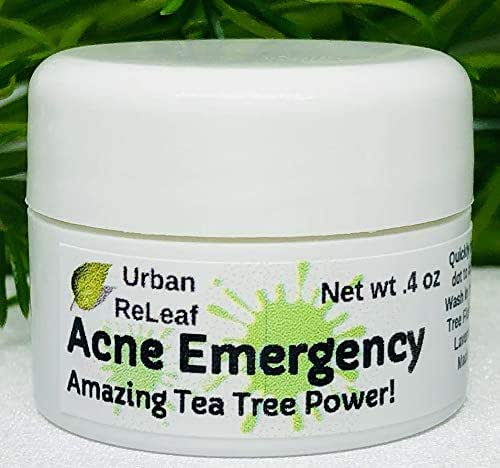 Urban ReLeaf Acne Emergency, Amazing Tea Tree Power! Quickly heal red & Angry Acne. Calm & heal breakouts. Effective Blemish spot Treatment. Gentle Fast Help. 100% Natural Cyst & Zit Remedy