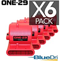 ONE-29 Air mover Carpet dryer 3-Speed 2.9 AMPS with GFCI 4-unit Daisy Chain Capability RED 6-PACK