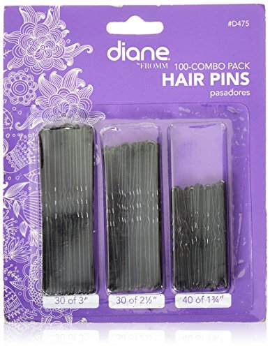 (Diane Hair Pins Assorted Size, Black,)
