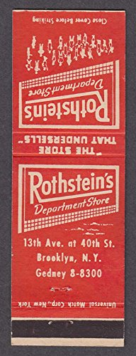 Rothstein's Department Store 13th Ave & 40th St Brooklyn NY - Department Stores Brooklyn