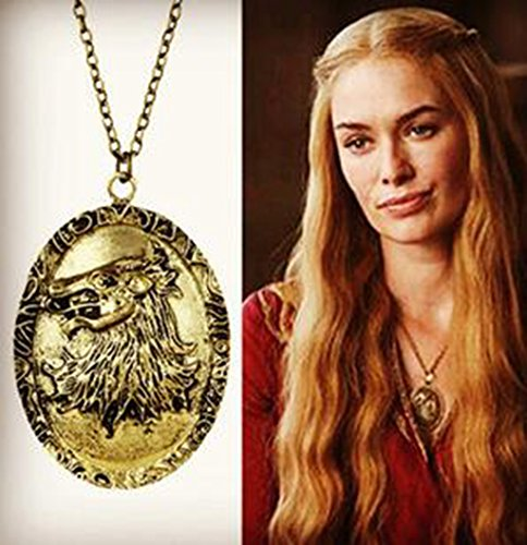 Eruner Game Of Thrones Necklace Song Of Ice And Fire Cersei Lannister Hourse Vintage Lion Badge Pendant Wholesale