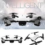 Christmas Drone, Leewa YH-19HW Wifi FPV Camera Foldable 2.4G 6-Axis Selfie Quadcopter Drone Toys (White - 2MP 120°FOV)