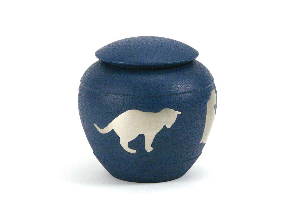 Near & Dear Pet Memorials Silhouette Cat Urn, Country Blue by Near & Dear Pet Memorials