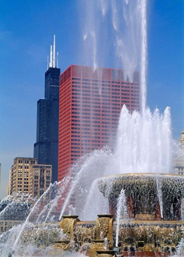 Buckingham Fountain, Chicago, Illinois by Panoramic Images Art Print, 10 x 14 ()
