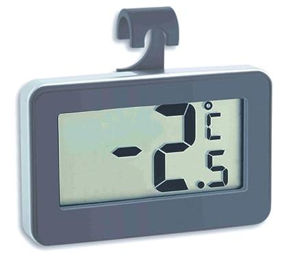Digital Refrigerator Thermometer Freezer Thermometer TFA 30.2028, Grey