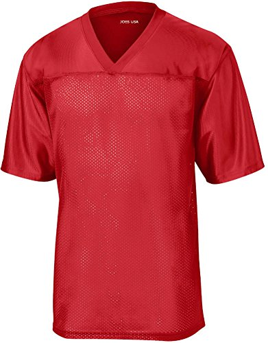 (Joe's USA Mens Replica Athletic Football Jersey-Red-L)