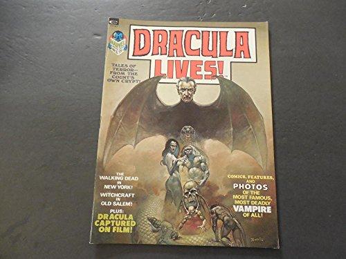 Dracula Lives #1 1973 Bronze Age BW Marvel Magazine Salem Witchcraft