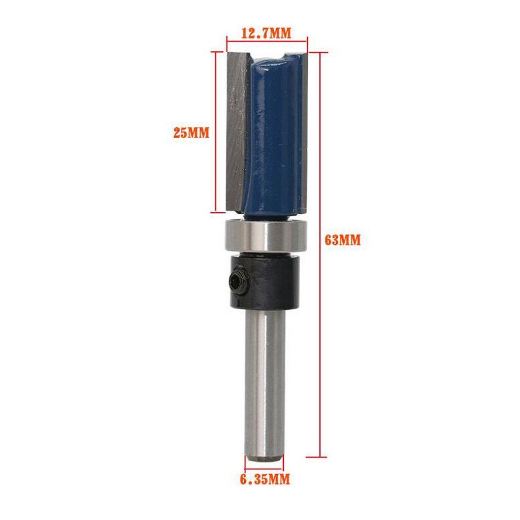 """Bündigfräser Schaftdurchmesser 1//4 /"""" aus HM für Lange 6,35 mm"""