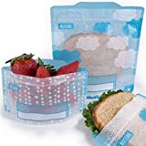 Russbe 18586 Clouds Reusable Snack and Sandwich Bags (Set of 4), Blue
