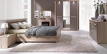 Design Luxus Schlafzimmer Set Stilmöbel Edelholz Komplett Braun SL36 NEU!