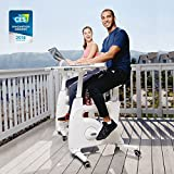 FLEXISPOT Desk Bike Stand up Folding Exercise Desk Cycle Height Adjustable Office Desk Stationary...