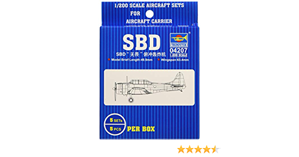 RCECHO/® Trumpeter Aircraft Model 1//700 Airplane SBD Dauntless Scale Hobby 03402 P3402 with 174; Full Version Apps Edition