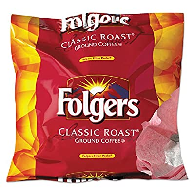 SCS Folgers - Classic Roast Ground Coffee Filter Packs, 0.9 Oz - 40 Ct.