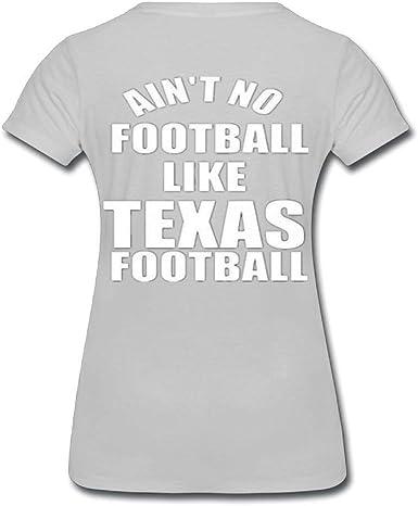 OPO-T Aint No Football Like Texas Football Mujer Personalizado algodón Camisa: Amazon.es: Ropa y accesorios