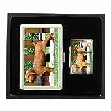 Dog vizsla dog 02 Cigarette Case Oil Lighter Gift Set