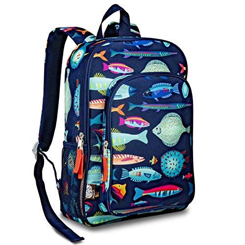 LONECONE Kids School Backpack for Boys and Girls - Sized for Kindergarten, Preschool - School of Fish