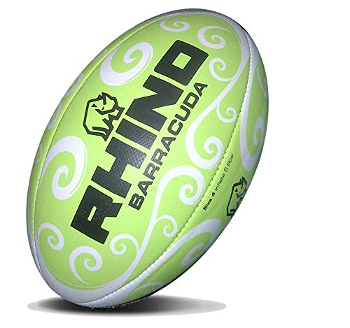 RHINO RUGBY Barracuda Beach Ball - Green-Size 4