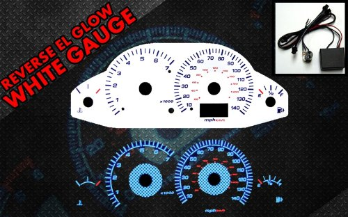 Glow White Face Reverse Gauges - 1