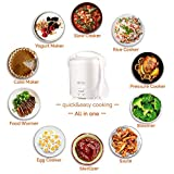 1.0L Mini Rice Cooker,WHITE TIGER Portable Travel