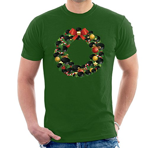 Hockey Wreath (Coto7 Christmas Ice Hockey Puck Wreath Men's T-Shirt)