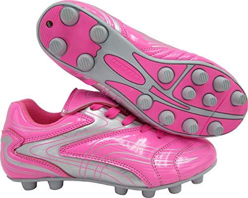 9dd159c31b8 Vizari Striker FG Soccer Shoe (Toddler Little Kid Big Kid) 13 M US Little  Kid Pink Silver