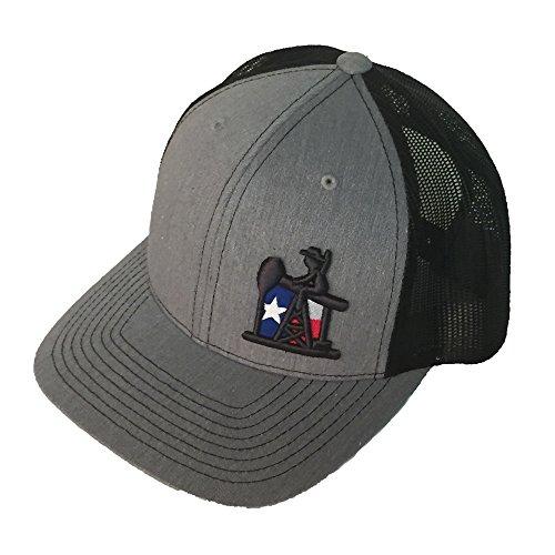 (Pumpjack Cowboy The Texan, Trucker Style Snapback Hat, OSHA)