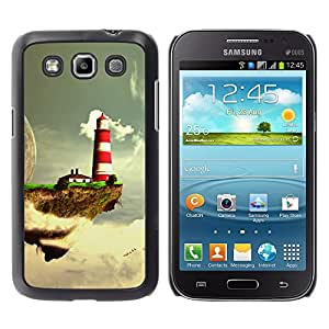 Fantasy Planet - Metal de aluminio y de plástico duro Caja del teléfono - Negro - Samsung Galaxy Win I8550
