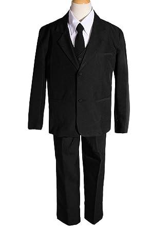 Amazon Amj Dresses Inc Big Boys 5 Pieces Long Tie Black Formal