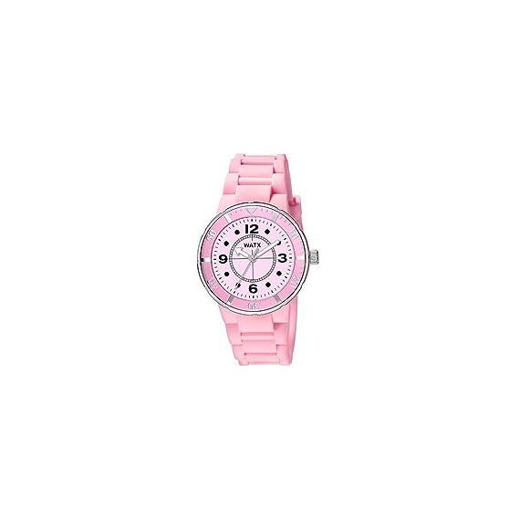 183c22fd4cfe Watx Reloj Análogo clásico para Mujer de Cuarzo con Correa en Caucho  RWA1602  Amazon.es  Relojes
