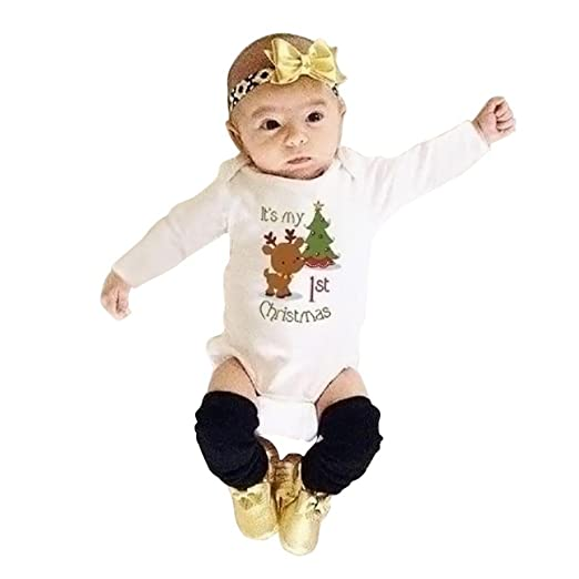 d7af51164039 Amazon.com  Digood Toddler Baby Kids Girls Boys Christmas Deer Tree ...