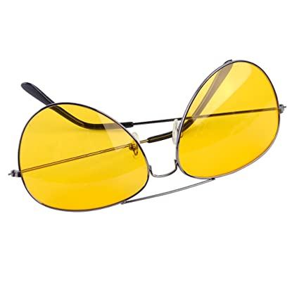 28e9e58fb7 Image Unavailable. Image not available for. Color  beler Fashion Night  Driving Glasses Anti Glare Vision Driver Safety Sunglasses ...